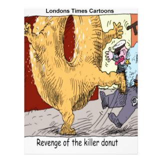Police Vs Donut Funny Cartoon Letterhead Template