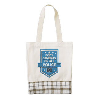 Police Wear Body Cameras Zazzle HEART Tote Bag