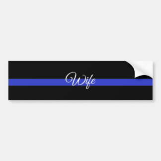Police Wife Bumper Sticker