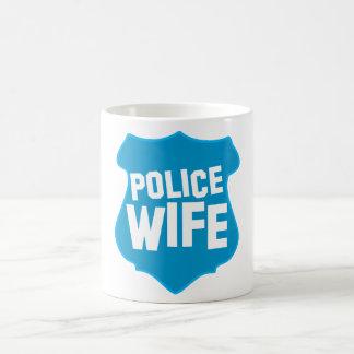 Police WIFE with officers badge shield Coffee Mug