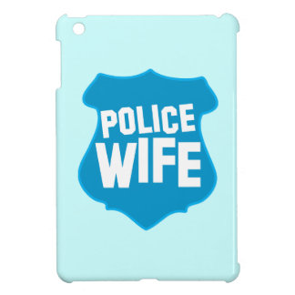 Police WIFE with officers badge shield Cover For The iPad Mini