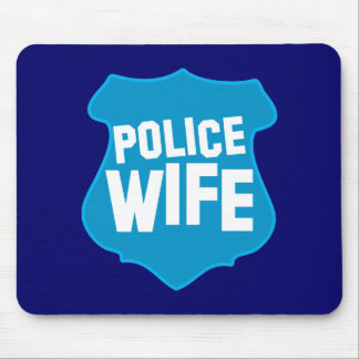 Police WIFE with officers badge shield Mouse Pad