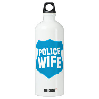Police WIFE with officers badge shield SIGG Traveler 1.0L Water Bottle
