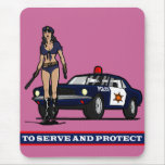 POLICE WOMAN1 MOUSE PAD