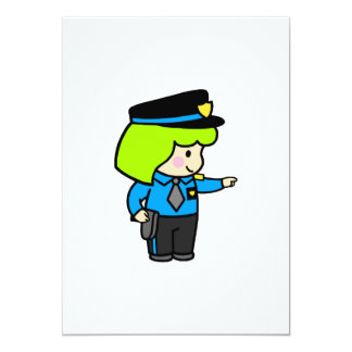 Police Woman 2 Card