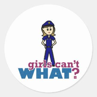 Police Woman Classic Round Sticker