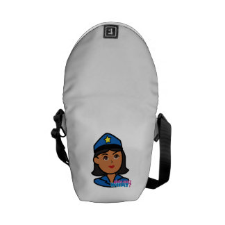 Police Woman Head - Dark Courier Bag