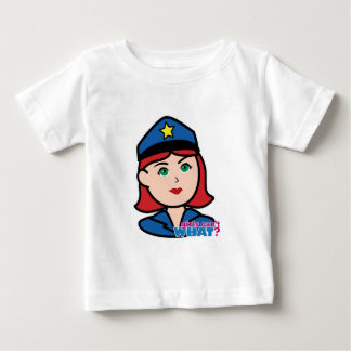 Police Woman Head - Light/Red Baby T-Shirt