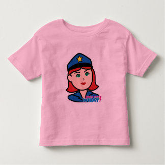 Police Woman Head - Light/Red Toddler T-shirt