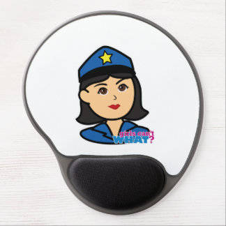 Police Woman Head Medium Gel Mouse Pad