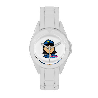 Police Woman Head Medium Wristwatches