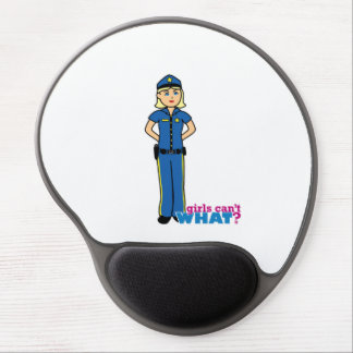 Police Woman - Light/Blonde Gel Mouse Pad