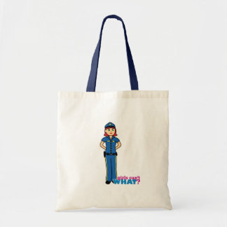 Police Woman - Light/Red Canvas Bag