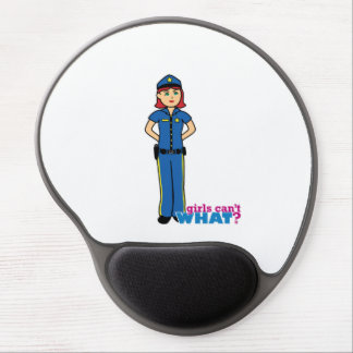 Police Woman - Light/Red Gel Mouse Pad