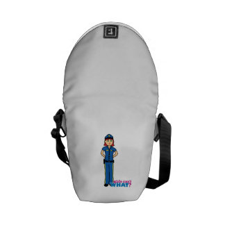Police Woman - Light/Red Messenger Bags