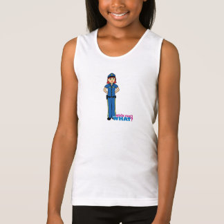 Police Woman - Light/Red Tank Top