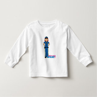 Police Woman - Light/Red Toddler T-shirt