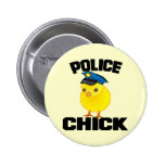 Police Woman Pinback Button