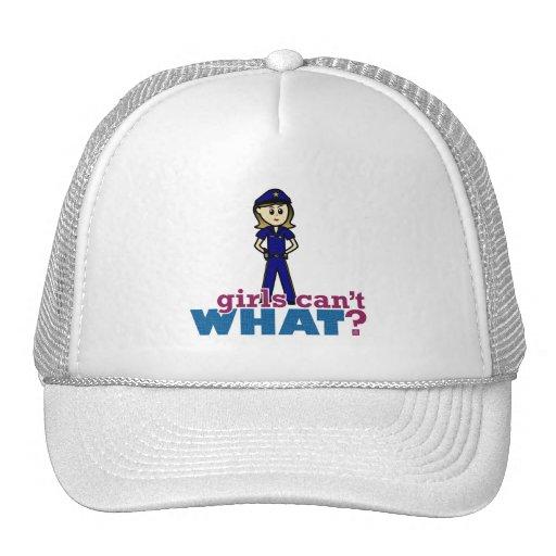 Police Woman Trucker Hat