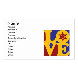 Police Work Love Business Card