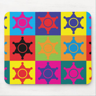 Police Work Pop Art Mouse Pad