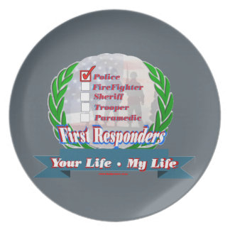 Police_Your_Life Melamine Plate