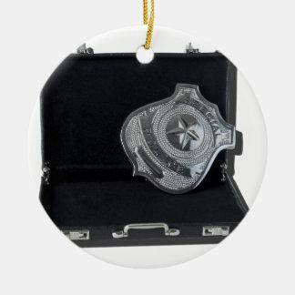 PoliceBadgeBriefcase090615.png Ceramic Ornament