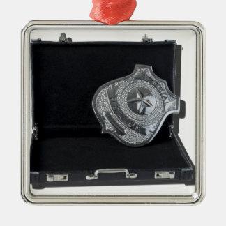 PoliceBadgeBriefcase090615.png Metal Ornament