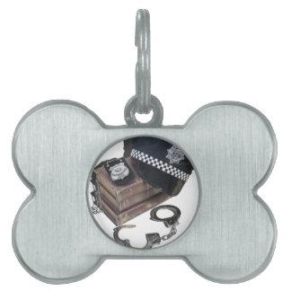 PoliceCrimeBooksHatBadgeHandcuffs042113.png Pet Tag