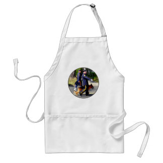 Policeman and Police Dog in Parade Adult Apron