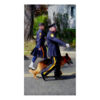 Policeman and Police Dog in Parade Business Card