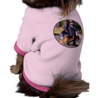 Policeman and Police Dog in Parade Pet Shirt