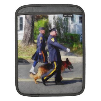 Policeman and Police Dog in Parade iPad Sleeves
