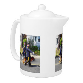 Policeman and Police Dog in Parade Teapot