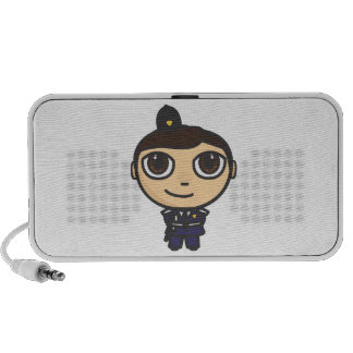 Policeman Cartoon Character Doodle Speakers