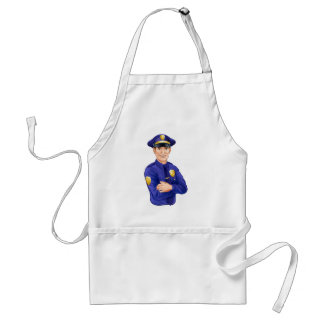 Policeman character aprons