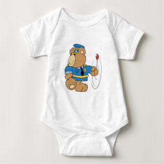 Policeman Cop Bear Baby Bodysuit
