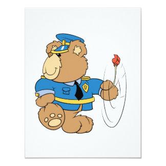 Policeman Cop Bear Card