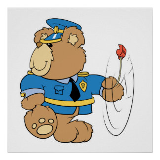 Policeman Cop Bear Poster