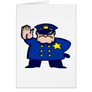 Policeman copilot card