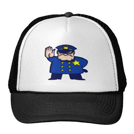 Policeman copilot trucker hat