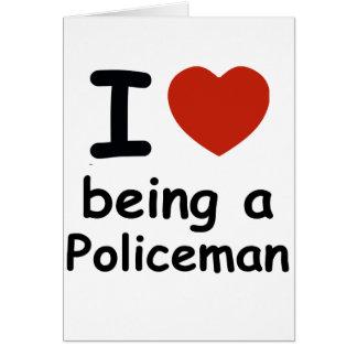 policeman design card