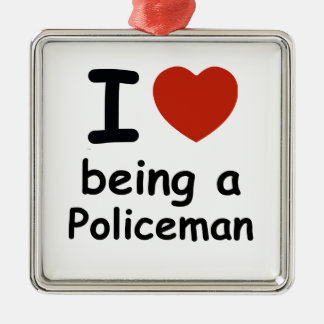 policeman design metal ornament