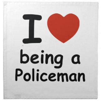 policeman design napkin