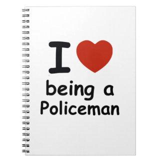 policeman design notebook