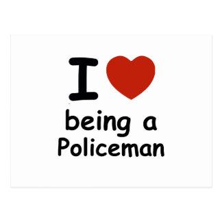 policeman design postcard