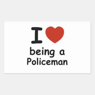 policeman design rectangular sticker