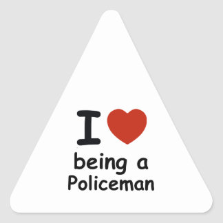 policeman design triangle sticker