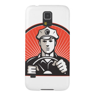 Policeman Driver Driving Steering Wheel Case For Galaxy S5
