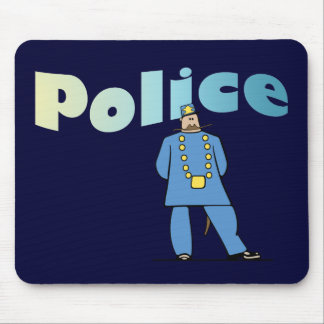 Policeman in Uniform Mouse Pad